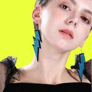 Ride the Blue Lightning Earrings